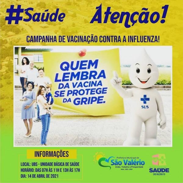 ATENÇÃO! - Campanha de Vacinação Contra a Influenza (Gripe).
