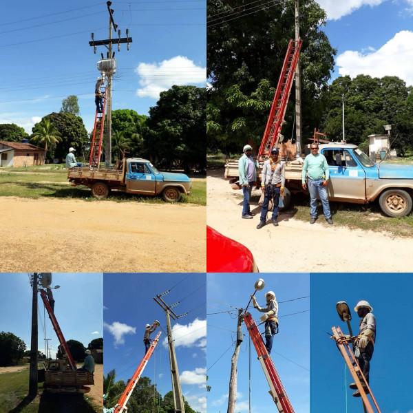 Secretaria de Viação e Obras realiza Manutenção da Iluminação Pública em São Valério-TO.