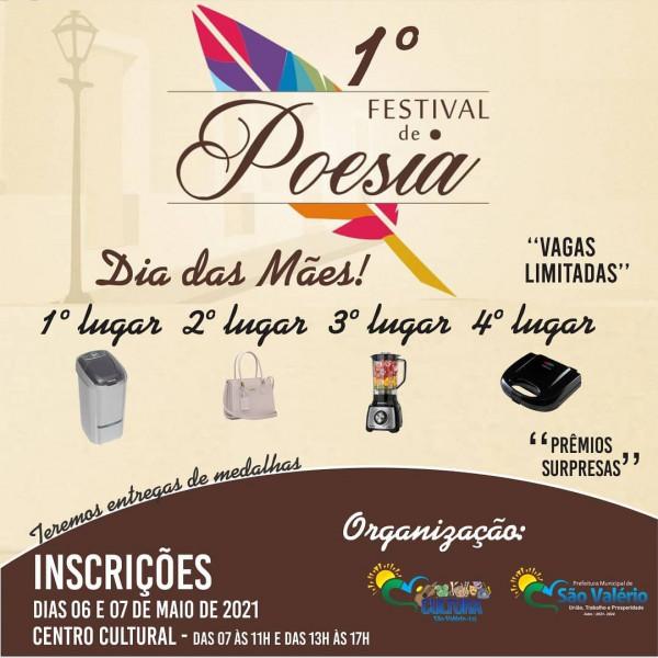 Secretaria de Cultura de São Valério Realiza 1º Festival de Poesias em Comemoração ao dia das Mães.