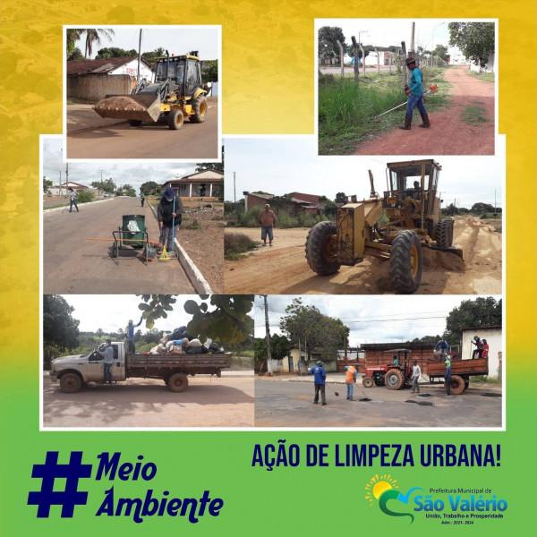 Prefeitura Realiza Ação Intensificada de Limpeza Urbana em São Valério-TO