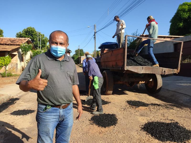 Prefeitura Trabalhando! Ação Tapa Buracos em São Valério-TO!
